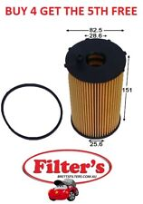 OIL FILTER FORD TERRITORY SZ 2.7L 6 CYL 2WD AWD TURBO DIESEL 05/11-