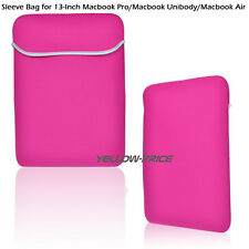Vogue Hot Pink Retina Sleeve Bag Case Cover for 13 inch Macbook Pro