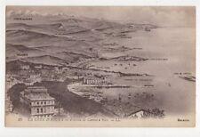 La Cote d'Azur France a Vol d'Oiseau Cannes a Nice Vintage LL Postcard 720a