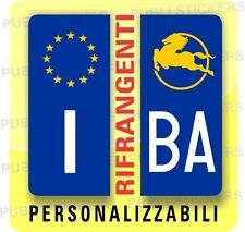 ADESIVI BLU RIFRANGENTI PER TARGA AUTO EUROPEA CON SIMBOLO IVECO E PROVINCIA