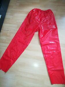 Adult  SISSY GUMMIHOSE PVC Hose LACK Sporthose Gummi Unisex PLASTIK TROUSERS