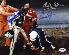 Cale Yarborough Bobby Donnie Allison SIGNED 8x10 Photo FIGHT PSA/DNA AUTOGRAPHED
