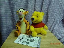"SET OF 2! 1999 Disney Chat Pal Tigger AND Pooh 11"" Plush Animated Interactive 3+"