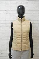 Piumino Donna Geox Smanicato Giubbino Giacca Taglia 40 Beige Giubbotto Jacket
