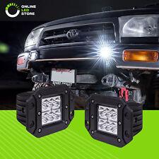 2pc 24W LED Off Road Flush Mount Cube Light Truck Bumper Driving Reverse - Spot