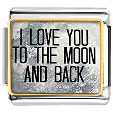 I Love You To The Moon And Back Italian Charms  Cheap Fit Classic Links Bracelet