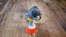 CAST IRON ELEPHANT ON A PEDESTAL STILL BANK