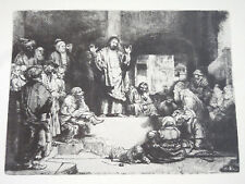 Print - 'Christ Preaching' by REMBRAND'  Etching - Nat'l Gallery of Art, Wash.