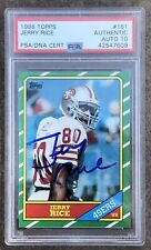 🔥 PSA 10 Jerry Rice Signed Autographed 1986 Topps Rookie Card Encased HOF 2000a