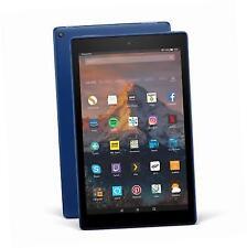 Amazon Fire HD 10 Tablet Blue 64 GB With Alexa Voice 2017 Version Bundle