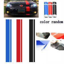 "5D Shiny Gloss Carbon Fiber Racing Car Van Side Stripes Sticker Decals 6""x50"""