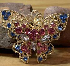 Broche Mariposa Esqueleto Broche Pin Aleación Vintage Grande Estrás Diamante