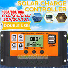 100A MPPT+PWM Solar Panel Regulator Charge Controller Auto Focus Tracking 12/24V