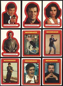 1976 Topps James Bond: Moonraker Sticker Stickers You Pick Finish Your Set