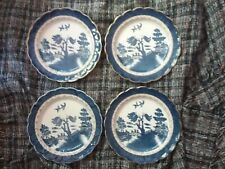 "BOOTHS REAL OLD WILLOW 10.5"" DINNER PLATES X 4"
