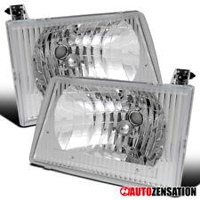 For 1992-2007 Ford E150 E250 E350 E450 Econoline Van Clear Headlights Lamps Pair