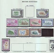 Mint Hinged British Honduran Stamps (Pre-1973)