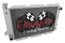 "1985 - 1997 Ford F Series 4 Row Rockin Champion Radiator w/ 2 x 12"" Fans"