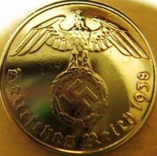 Nazi German 5 Reichspfennig 1938 Gold Colour Coin Third Reich Eagle Swastika WW2