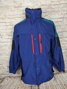 Early Winters Mens S Alpen Lite Ski Jacket Coat Parka Blue Nylon Colorblock