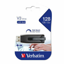 128 GB USB 3.0 Memory Stick Flash Stick Pen Drive Genuine Official Verbatim
