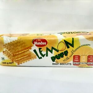 CBL Munchee Lemon Puff Real 100% Cream Tea Biscuit Best Quality Sri Lanka 200g