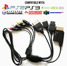 Universal Multi AV & S-Video Cable for PS1/PS2/PS3/GameCube/SNES/N64/Xbox/360