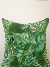 Tommy Bahama Outdoor Indoor Tropical Banana Palm Leaf Lumbar Retro Cushion Cover
