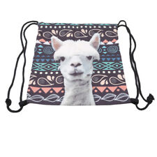 Alpaca 3D Printing Drawstring Travel Backpack Book Bag Shoes Sorted Bag