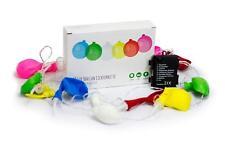 LED Lichterkette, 12 bunte Luftballons, Party Deko Luftballon wiederverwendbar