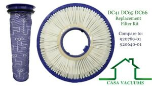 HEPA Post + Pre Filter For Dyson DC41 DC65 DC66 Animal Vacuum Cleaner