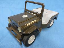 Vintage Tonka Army Jeep, Pressed Steel & Plastic, Circa 1970