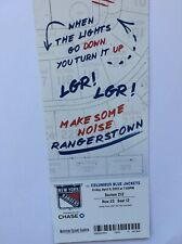 NEW YORK RANGERS VS COLUMBUS BLUE JACKETS APRIL 5, 2019 TICKET STUB