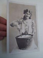 Vintage Real Photo Postcard PHYLLIS DARE A.469 Franked+Stamped Blyth 1907