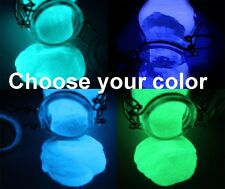 GLOW IN THE DARK PIGMENT POWDER 1 or 2oz GREEN, AQUA, BLUE, LILAC