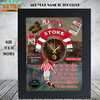 Personalised  Retro STOKE CITY football  supporters  Metal Clock