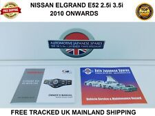 COMPATIBLE WITH NISSAN ELGRAND E52 2010 ONWARD AV MONITOR & SERVICE  BOOKLET