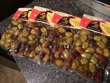 IMPORTED MARINATED GREEK OLIVE MEDLEY WITH LEMON AND HERBS 4 POUCHES 8.8 OZ EACH