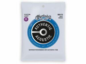 Martin MA175 Authentic SP 80/20 Bronze Muta di corde per chitarra acustica Cu...