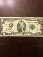 U.S. Currency Series 2003A RARE $2 Dollar Bill in Great Shape ( St Louis)