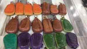 Genuine OSTRICH Leather or CROCODILE car Key Holder Wallets Bag , Key Case