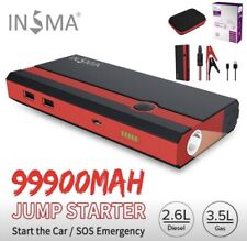 99900mAh 12 V Car Jump Starter Boosters Portable USB Emergency Charger