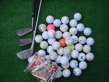 3 Golfschläger + 50 Crossgolfbälle + 50 Tees  Crossgolf , Golfbälle