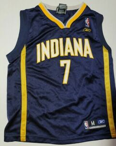 Indiana Pacers Basketball Jersey #7 Jermaine Oneal Adidas  Youth Medium
