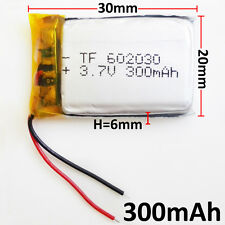 3.7V 300mAh 602030 LiPo Polymer Rechargeable Battery For MP3 MID PSP bluetooth