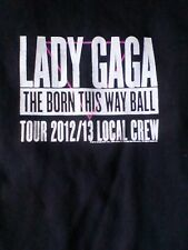 Lady gaga tour t shirt,born this way 2012-13 crew t-shirt