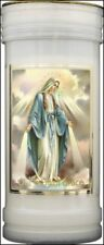 VIRGIN MARY OUR LADY OF GRACE HOLY CANDLE RELIGIOUS STATUES PICTURES ALSO LISTED
