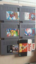 Lot 6 jeux Nintendo NES mario 2 pacman megaman kirby fra notice Astérix