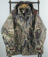 Vtg REMINGTON Size XL/2XL Break Up Camouflage Insulated Hunting Jacket Coat Mens