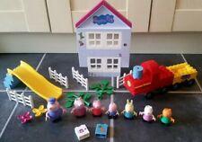 Peppa Pig Construction Brick Toys Figures,Train,Playsets,Slide Duplo Compatible